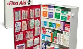0614A ANSI 4 Shelf Class A Industrial First Aid Cabinet Type I & II 150 Person