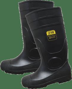 SST-16 PVC Black Steel Toe Boots