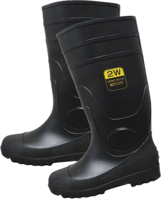 SST-16 PVC Black Steel Toe Boots