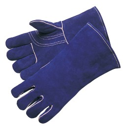 Liberty Gloves 7344 Premium Blue Side Split Leather, Reinforced Thumb with Kevlar Sewn Welder Gloves By The Pair
