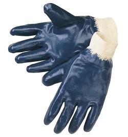 Liberty Gloves 9463 Heavy Weight Blue Nitrile Fully Coated Gloves, Dozen