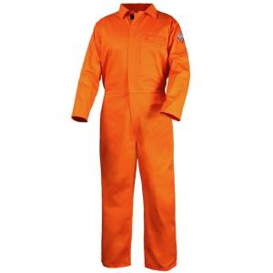 Black Stallion CF2117-OR 7 oz. Orange FR Cotton Coverall NFPA 2112 Rated