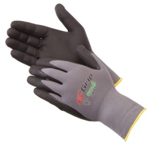 Liberty Gloves F4600 G-GRIP Black Nitrile Micro-Foam Palm Coated Glove, Pair