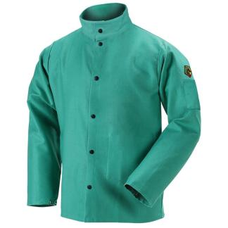 "Black Stallion F9-36C TruGuard  9oz Green FR Cotton Welding Jacket, 36"" Length"