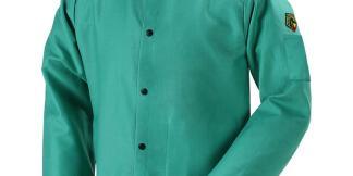 "Black Stallion F9-36C TruGuard  9oz Green FR Cotton Welding Jacket, 36"" Length"