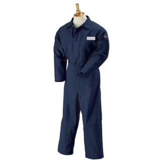 Black Stallion FN9-32CA/PT 9oz Flame-Resistant Cotton Coverall, Navy Blue