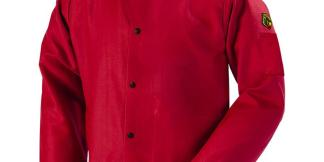 Black Stallion FR9-30C TruGuard  9oz Red FR Cotton Welding Jacket