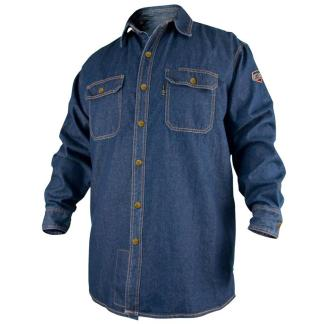 Black Stallion FS8-dnm 8oz. dENIM Flame-Resistant Work Shirt