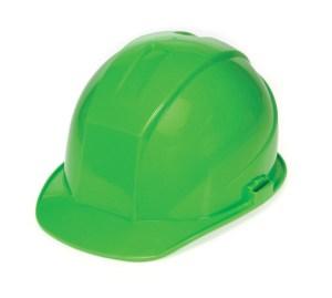 DURASHELL 6 POINT PINLOCK SUSPENSION HI-VIZ GREEN HARD HAT