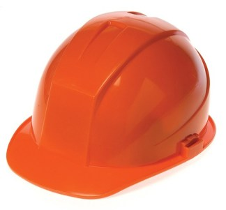 DURASHELL 4 POINT RATCHET SUSPENSION HI-VIZ ORANGE HARD HAT