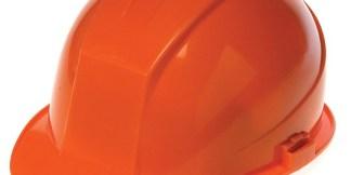 DURASHELL 4 POINT RATCHET SUSPENSION HI-VIZ ORANGE HARD HAT
