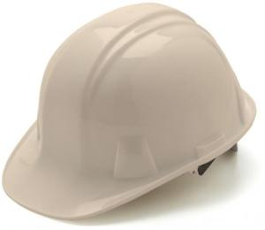 White Hard Hat with 6 Point Pinlock Suspension