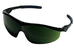 ST1150 Welding Safety Glasses - BLACK FRAME GREEN 5.0 LENS