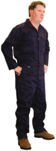 Stanco NBI681NB FR 9oz Navy Blue Indura Coveralls