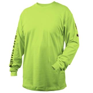 Black Stallion TF2510-LM  7 oz. 100% FR Cotton Knit Long-Sleeve T-Shirt, Lime