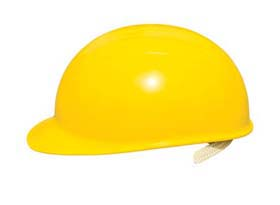 Bump Caps - Bump cap w/ yellow shell, suspension & polyester  brow pad