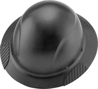 HDF-15KG DAX Black Full Brim Hard Hat