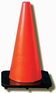 JACKSON SAFETY* DW Series Traffic Cones - Traffic cone, 7 lbs.