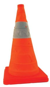 JACKSON SAFETY* Pack and Pop Cones* - Pack & Pop Cone w/ feet & orange plastic base