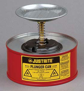 Plunger Cans - 1-Pt. steel plunger can