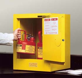 Sure-Grip EX Countertop and Compac Safety Cabinets for Flammables - 4-Gal. countertop cabinet w/ self-close door