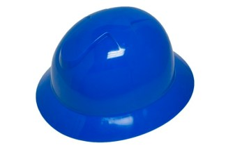DURASHELL FULL BRIM 6 POINT RATCHET SUSPENSION BLUE HARD HAT