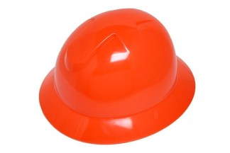 DURASHELL FULL BRIM 6 POINT RATCHET SUSPENSION HI-VIZ ORANGE HARD HAT