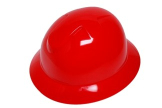 DURASHELL FULL BRIM 6 POINT RATCHET SUSPENSION RED HARD HAT