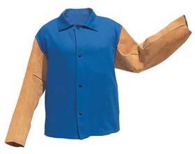 John Tillman 9230 Flame-Retardant Cotton Jackets with Leather Sleeves