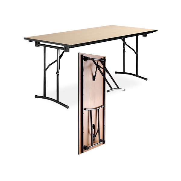 table pliante polyvalente diane melamine chant pvc 140x80 cm