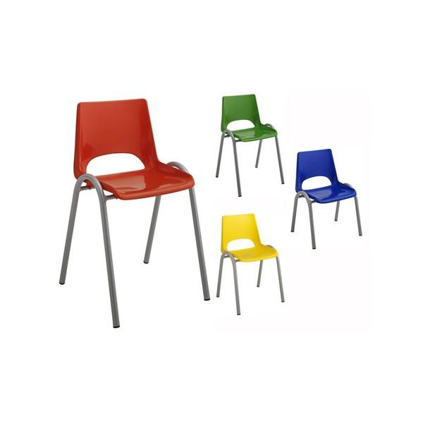 chaise coque plastique 4 pieds maternelle t1 a t4