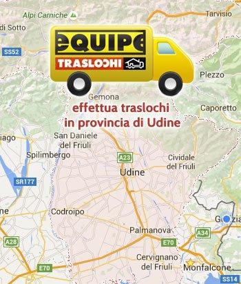 Traslochi Provincia di Udine  equipe traslochi