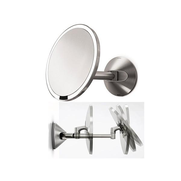 Miroir Grossissant Lumineux Sensor Mural 23 X 35 Cm