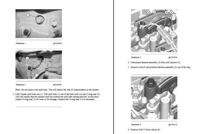 Caterpillar C7 KAL Diesel Engine Service Manual Set