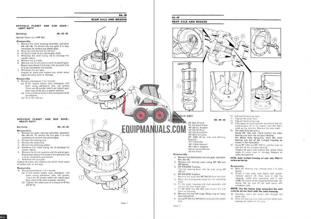 Massey Ferguson 675, 690, 698 Tractor Service Manual
