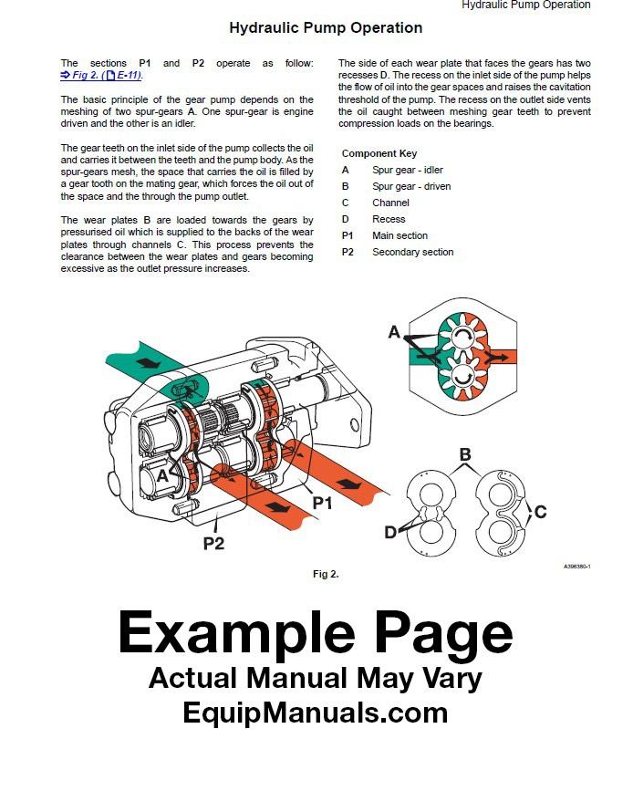 JCB 926, 930, 940 Forklift Service Manual