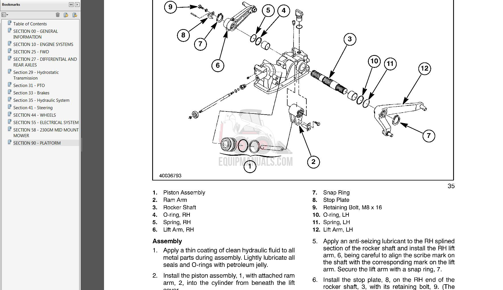 Case IH MXU, Maxxum Series Tractor Service Manual