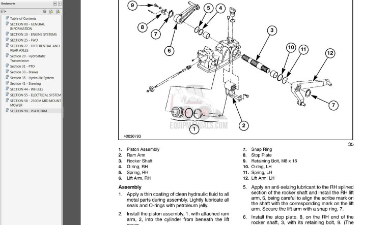 new holland t1010  t1030  t1110  boomer 1020  1025  1030 tractor service manual