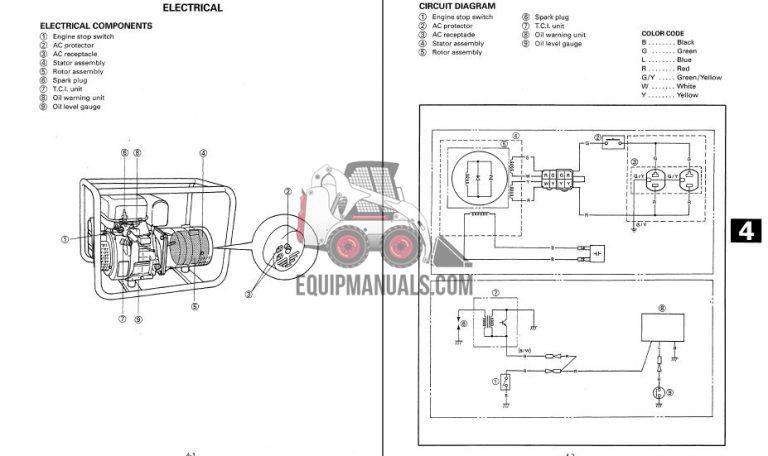 yamaha ef2400is generator service manual - equipmanuals.com yamaha ef3000iseb wiring diagram