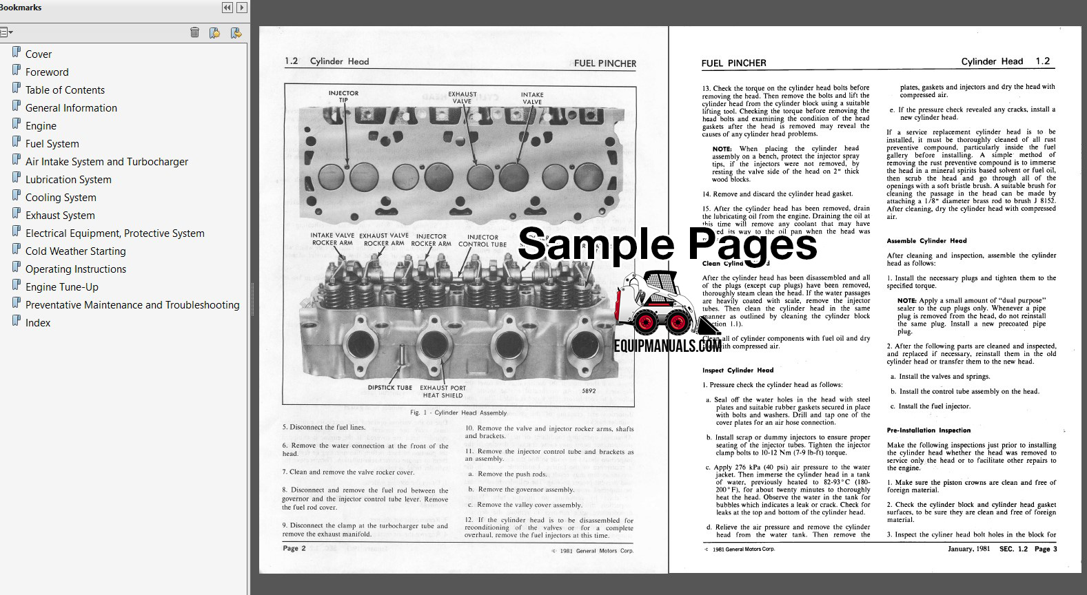 Detroit Diesel 8.2L Fuel Pincher Engine Repair Manual