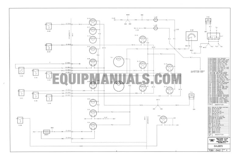 1977-1985 Western Star Truck Electrical System Wiring Manual
