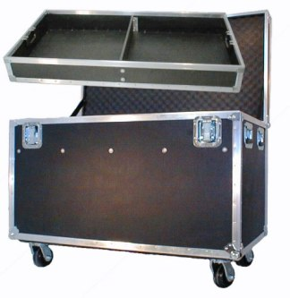 "Ready-Ship Flight Case w/4"" HD Casters-ID: 44""L x 24"" W x 26"" H"