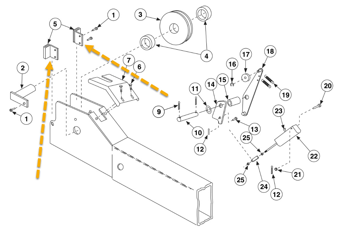 ROTARY SM/AR14 SLIDER FOR 4 POST LIFT OEM # FC5706-16