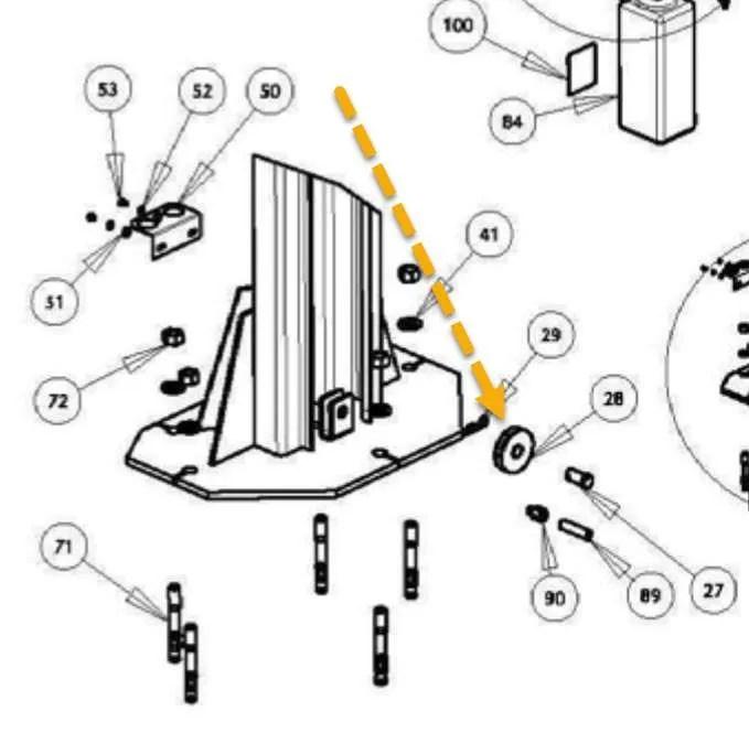 WHEELTRONIC 2 POST PULLEYS OEM# 1-1898 AMMCO S29, SR1,