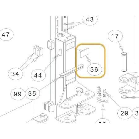 CHALLENGER PLASTIC IDLER SAFETY COVER OEM 3W-01-11-02