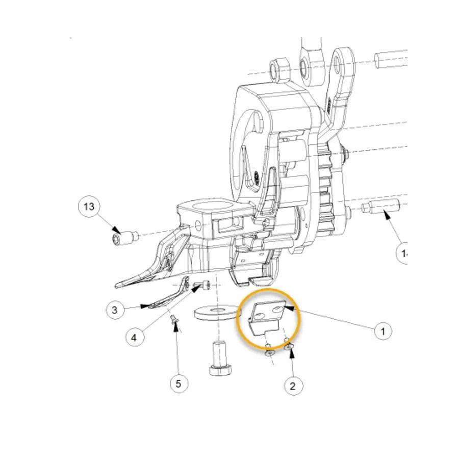 JOHN BEAN HOFMANN TIRE CHANGER AUTOMATIC HEAD DUMP TOOL
