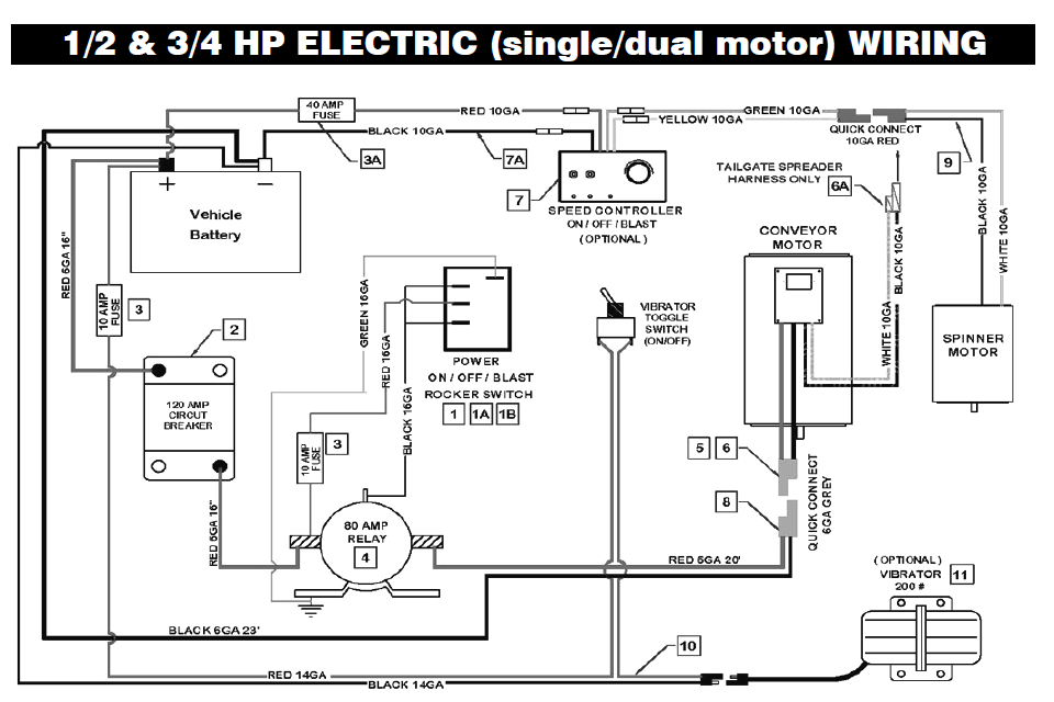 Single And Dual Motor Wiring
