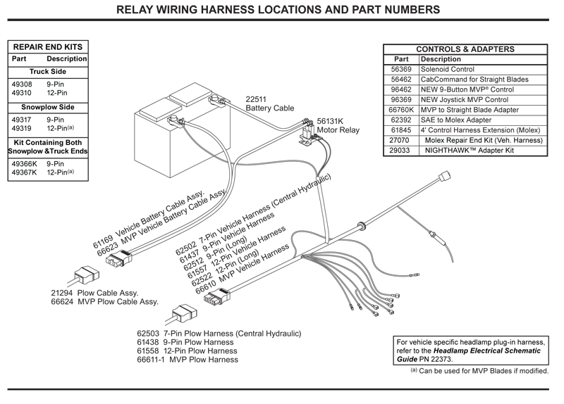 Western Relay Wiring Harness
