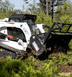 designed to quickly mulch trees and underbrush bobcat s new 70 inch forestry cutter attachment boosts mulching production by 17 percent over the company s  [ 2000 x 1373 Pixel ]