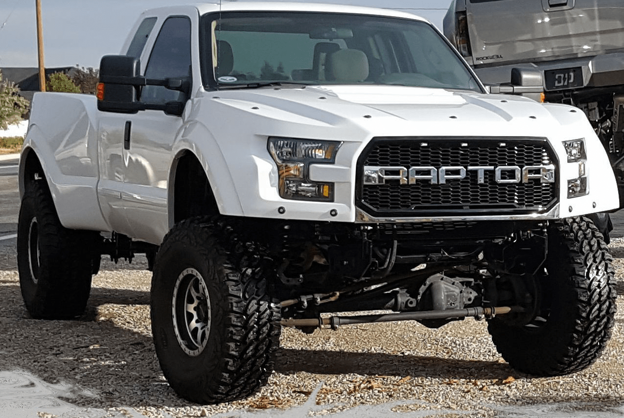 hight resolution of a ford super duty pickup converted by f250r into a superraptor riding on 40 inch tires